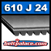 610J24 Poly-V Belt, Metric 24-PJ1549 Motor Belt.