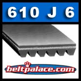 610J6 Poly-V Belt (Micro-V): Metric 6-PJ1549 Motor Belt.