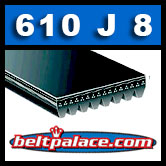 610J8 Poly-V Belt, Metric 8-PJ1549 Motor Belt.