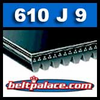 610J9 Poly-V Belt, Metric 9-PJ1549 Motor Belt.