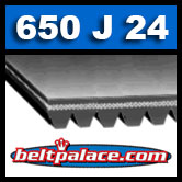 650J24 Poly-V Belt (Micro-V): Metric 24-PJ1651 Motor Belt.