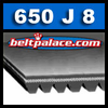 650J8 Poly-V Belt, Metric PJ1651 Motor Belt.