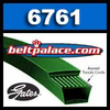 6761 Gates PoweRated V-Belts: 1 or 3L Section