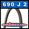 690J2 Poly-V Belt, Metric 2-PJ1753 Motor Belt.