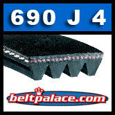 690J4 Poly-V Belt, Metric 4-PJ1753 Drive Belt.