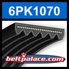 6PK1070 Automotive Serpentine (Micro-V) Belt: 1070mm x 6 ribs. 1070mm Effective Length.