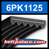 6PK1125 Automotive Serpentine (Micro-V) Belt: 1125mm x 6 ribs. 1125mm Effective Length.