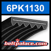 6PK1130 Automotive Serpentine (Micro-V) Belt: 1130mm x 6 ribs. 1130mm Effective Length.