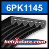 6PK1145 Automotive Serpentine (Micro-V) Belt: 1145mm x 6 ribs. 1145mm Effective Length.
