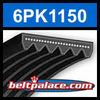 6PK1150 Automotive Serpentine (Micro-V) Belt: 1150mm x 6 ribs. 1150mm Effective Length.