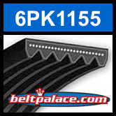 6PK1155 Automotive Serpentine (Micro-V) Belt: 1155mm x 6 ribs. 1155mm Effective Length.