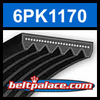 6PK1170 Automotive Serpentine (Micro-V) Belt: 1170mm x 6 ribs. 1170mm Effective Length.