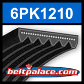 6PK1210 Automotive Serpentine (Micro-V) Belt: 1210mm x 6 ribs. 1210mm Effective Length.