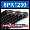 6PK1230 Automotive Serpentine (Micro-V) Belt: 1230mm x 6 ribs. 1230mm Effective Length.