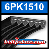 6PK1510 Automotive Serpentine (Micro-V) Belt: 1510mm x 6 ribs. 1510mm Effective Length.