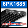 6PK1685 Automotive Serpentine (Micro-V) Belt: 1685mm x 6 ribs. 1685mm Effective Length.
