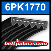 6PK1770 Automotive Serpentine (Micro-V) Belt: 1770mm x 6 ribs. 1770mm Effective Length.