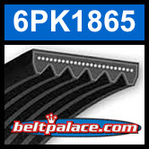 6PK1865 Automotive Serpentine (Micro-V) Belt: 1865mm x 6 ribs. 1865mm Effective Length.