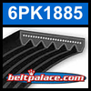 6PK1885 Automotive Serpentine (Micro-V) Belt: 1885mm x 6 ribs. 1885mm Effective Length.