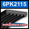 6PK2115 Automotive Serpentine (Micro-V) Belt: 2115mm x 6 ribs. 2115mm Effective Length.