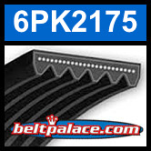 6PK2175 Automotive Serpentine (Micro-V) Belt: 2175mm x 6 ribs. 2175mm Effective Length.