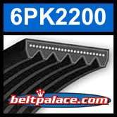 6PK2200 Automotive Serpentine (Micro-V) Belt: 2200mm x 6 ribs. 2200mm Effective Length.