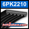 6PK2210 Automotive Serpentine (Micro-V) Belt: 2210mm x 6 ribs. 2210mm Effective Length.