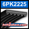 6PK2225 Automotive Serpentine (Micro-V) Belt: 2225mm x 6 ribs. 2225mm Effective Length.