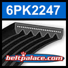 6PK2247 Automotive Serpentine (Micro-V) Belt: 2247mm x 6 ribs. 2247mm Effective Length.