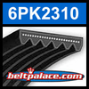 6PK2310 Automotive Serpentine (Micro-V) Belt: 2310mm x 6 ribs. 2310mm Effective Length.
