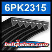 6PK2315 Automotive Serpentine (Micro-V) Belt: 2315mm x 6 ribs. 2315mm Effective Length.