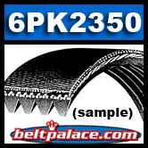 6PK2350 Bando Premium Automotive serpentine belt. Replaces: K060926, 5060925, 6K925...