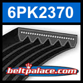 6PK2370 Automotive Serpentine (Micro-V) Belt: 2370mm x 6 ribs. 2370mm Effective Length.