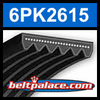 6PK2615 Automotive Serpentine (Micro-V) Belt: 2615mm x 6 ribs. 2615mm Effective Length.