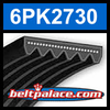 6PK2730 Automotive Serpentine (Micro-V) Belt: 2730mm x 6 ribs. 2730mm Effective Length.