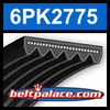 6PK2775 Automotive Serpentine (Micro-V) Belt: 2775mm x 6 ribs. 2775mm Effective Length.