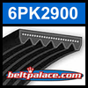 6PK2900 Automotive Serpentine (Micro-V) Belt: 2900mm x 6 ribs. 2900mm Effective Length.