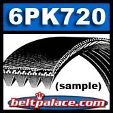 6PK720 Poly V Metric Automotive Belt.