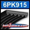 6PK915 Automotive Serpentine (Micro-V) Belt: 915mm x 6 ribs. 915mm Effective Length.