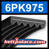 6PK975 Automotive Serpentine (Micro-V) Belt: 975mm x 6 ribs. 975mm Effective Length.