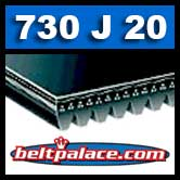 730J20 Poly-V Belt, Metric 20-PJ1854 Motor Belt.