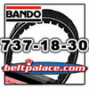Bando 737-18-30 Scooter CVT Belt. Spec: 737x18x30. OEM High Mileage CVT Belt for 23100-GFM-901.