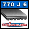 770J6 Poly-V Belt, Metric 6-PJ1956 Motor Belt.