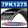 7PK1275 Automotive Serpentine (Micro-V) Belt: 1275mm x 7 ribs. Metric 7PK1275 Serpentine Belt. 50.2� (1275mm) Eff. Length.