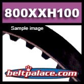 "800XXH100 TIMING BELT. 1-1/4"" Pitch (1 x 80in PL),"