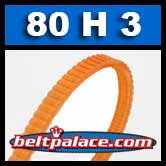 Bando 80H3 Poly-V Belt (Polyurethane). Metric 3-PH203 Motor Belt.