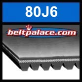 80J6 Poly-V Belt, Metric 6-PJ203 Motor Belt.