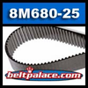 8M-680-25 Timing Belt. (Bando HTS 680-8M-25) 85 Teeth, 680mm Length