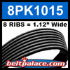 8PK1015 Automotive Serpentine (Micro-V) Belt: 1015mm x 8 RIBS. 1015mm Effective Length.