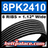8PK2410 Automotive Serpentine (Micro-V) Belt: 2410mm x 8 RIBS. 2410mm Effective Length.
